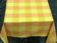 Τραπεζομάντηλο Μεγάλο Καρό Κίτρινο Πορτοκαλί