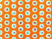 Floral Polka Dots Orange