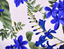 Jungle Flowers Blue