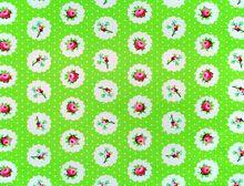 Floral Polka Dots Green
