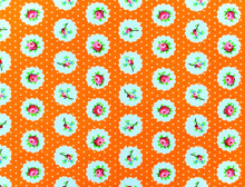 Floral Polka Dots Orange