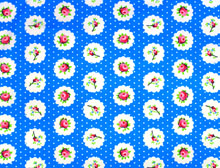 Floral Polka Dots Blue