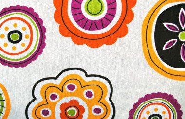 Round Flowers Orange