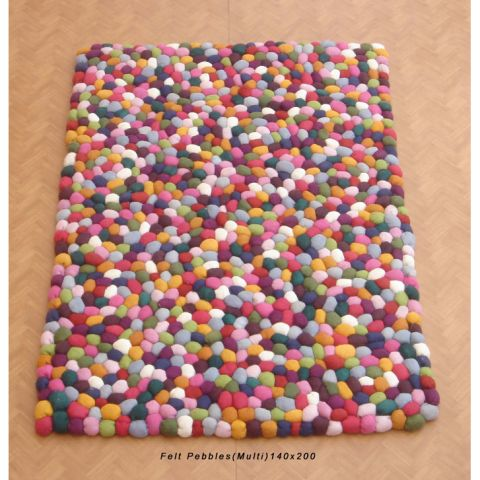 FELT PEBBLES MULTI