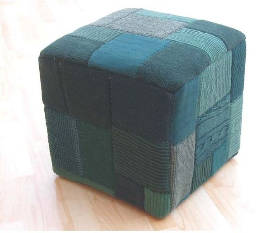 PATCHWORK-2 STOOL ΠΡΑΣΙΝΟ