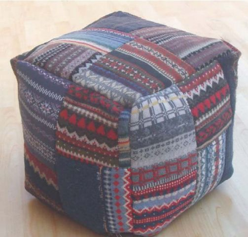STOOL-208  PATCHWORK 24 B.BAG