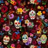 mexican-skulls-floral-polyester